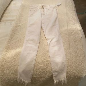 Frame white le high skinny jeans NWT